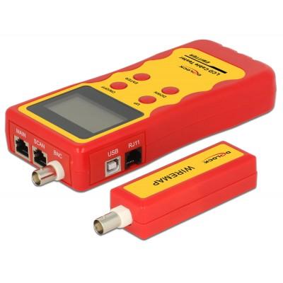 TESTER LCD RJ45/BNC/USB/RJ11